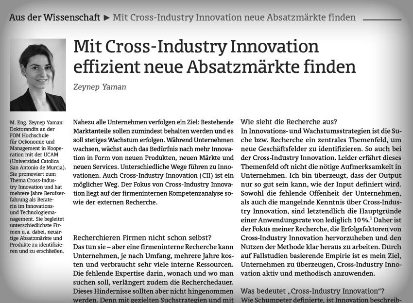 Cross-Industry Innovation Insights bei ideenmanagementdigital.de